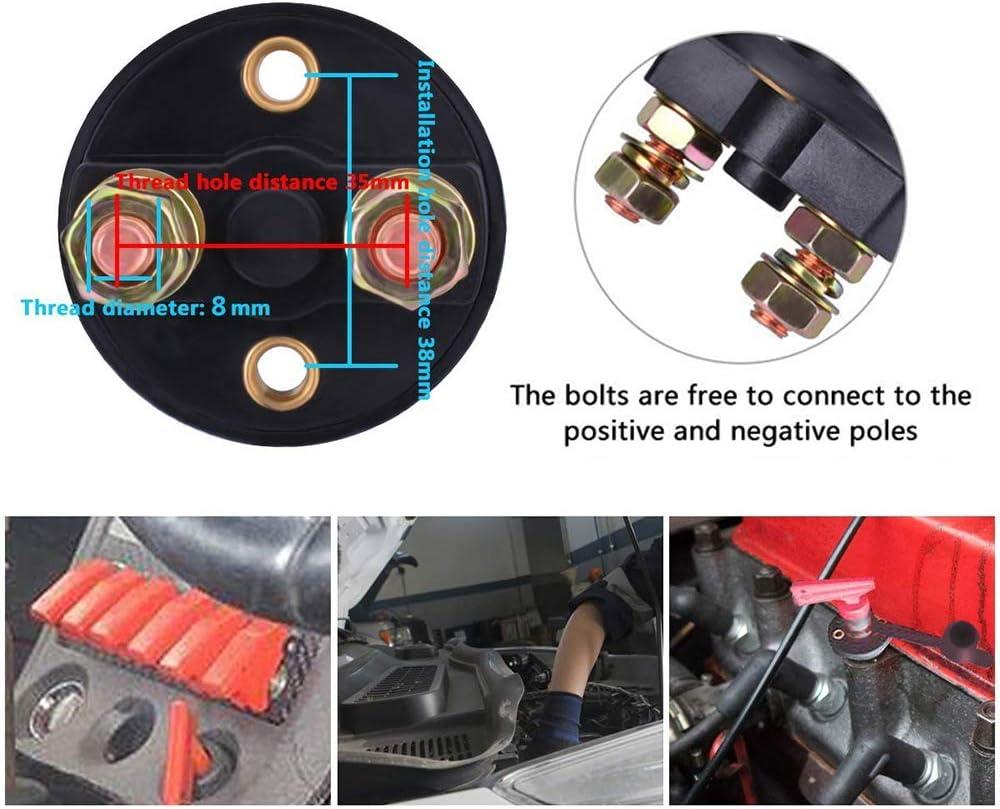 HQCM Universal Trennschalter f/ür Batterie Abgeschnitten 2 Polig Ein- Ausschalter Kill Switch Batterieschalter Hauptschalter f/ür Fahrzeug Boot Auto Kfz