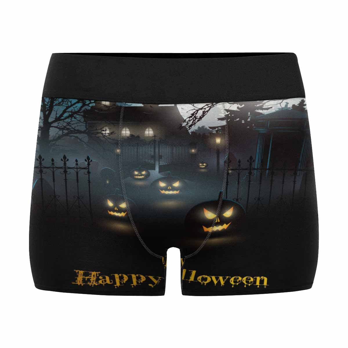 XS-3XL INTERESTPRINT Mens Boxer Briefs Underwear Scary Graveyard in The Woods Halloween Background