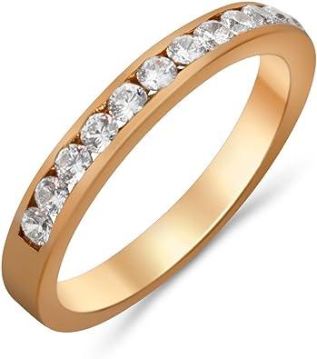 Goldring Gold 585 Rotgold 14K Memory Memoire Damen Ring