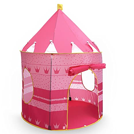 Princess Castle Play Tent Portable Folding Girlu0027s Pop Up Playhouse Castle Fairy Tale Cubby Child Kids  sc 1 st  Amazon.com & Amazon.com: Princess Castle Play Tent Portable Folding Girlu0027s Pop Up ...