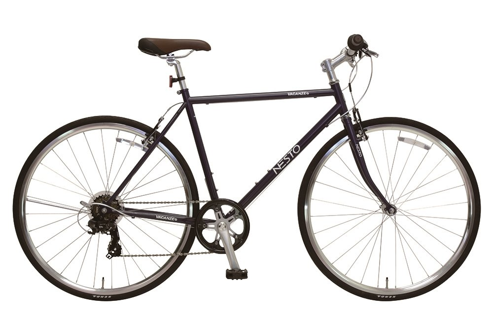 NESTO(ネスト) 街乗り用シンプルクロスバイク バカンゼS 外装7段 520mm マットブルー NE-17-006 B01MU4GE7J