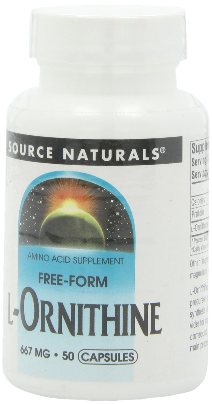 Source Naturals L-Ornithine, 667mg, 50 Capsules