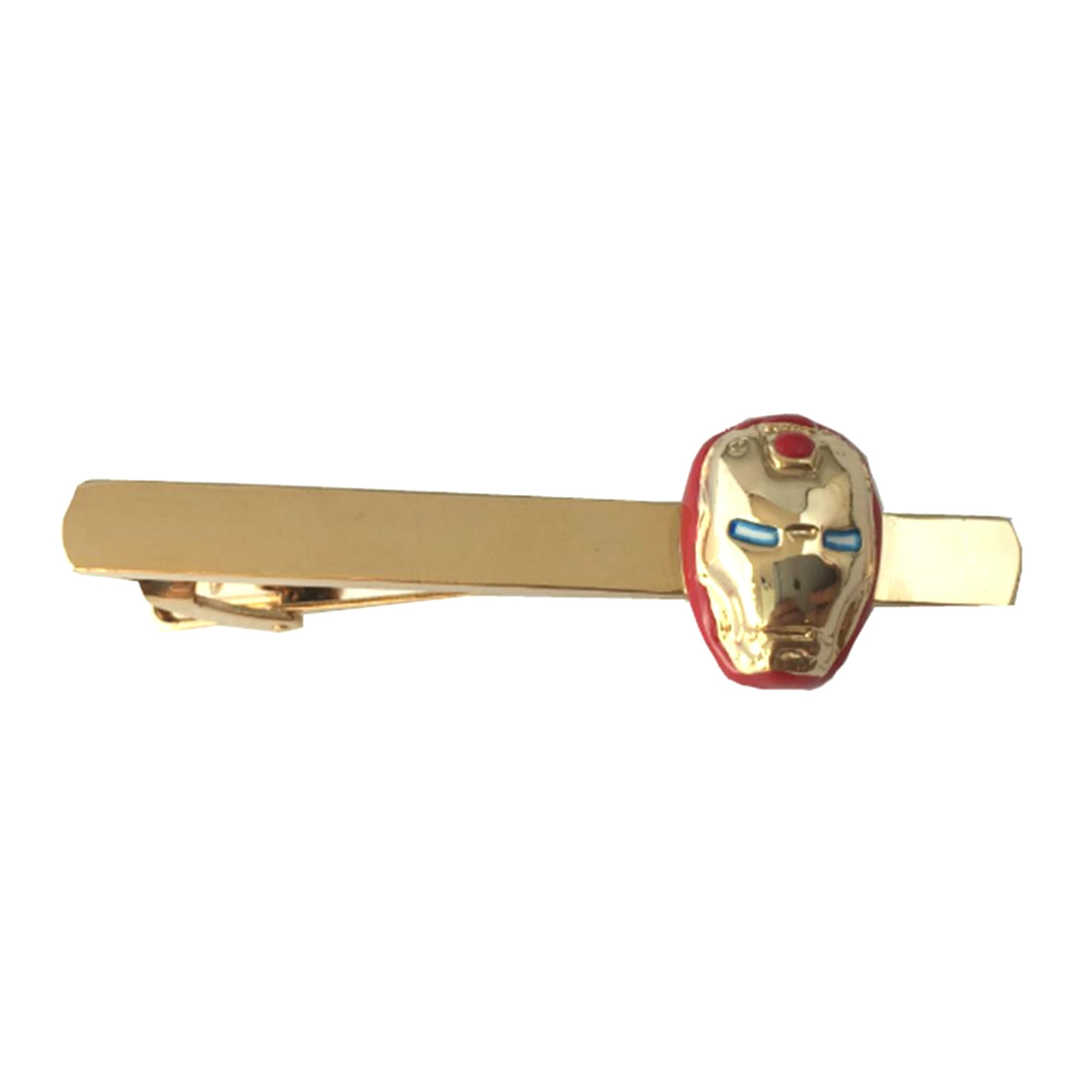 Outlander Marvel Comics - Ironman Gold Red - Tiebar Tie Clasp Wedding Superhero Logo w/Gift Box