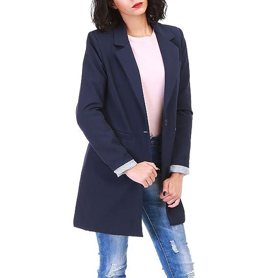 09bcc882195d La Modeuse - Veste Blazer Longue Femme  Amazon.fr  Vêtements et accessoires