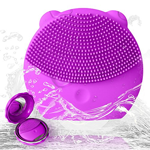 Facial Cleansing Massager - UIOT Facial Cleansing Massager Brushes Machine Silicone waterproof Face Cleanser Brush Exfoliator Electric Ultrasonic Rechargeable face wash brush