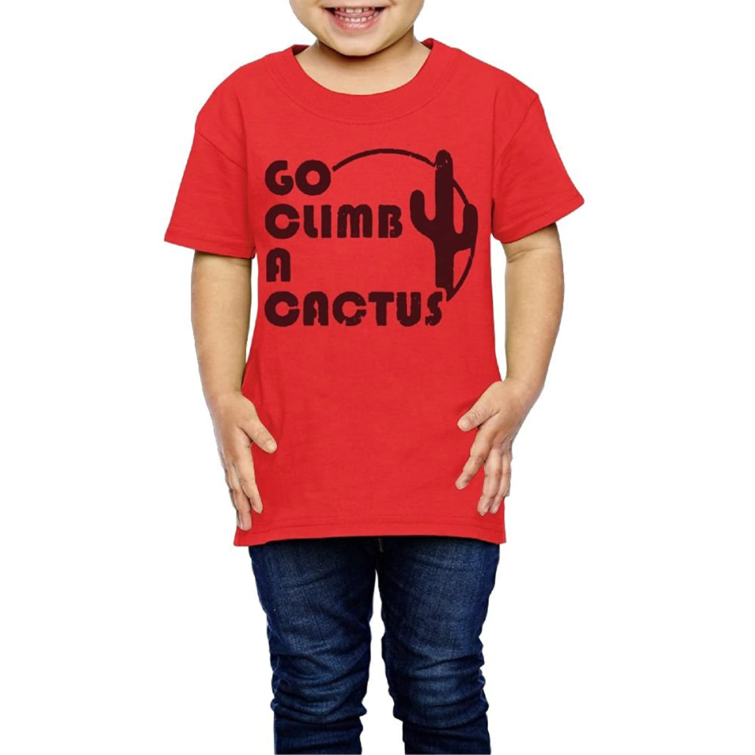 Tghhujffcbjj Boys Go Climb A Cactus - Funny Retro Vintage T Shirts Perfect Gift To Kids Or Parents Red 4 Toddler supplies