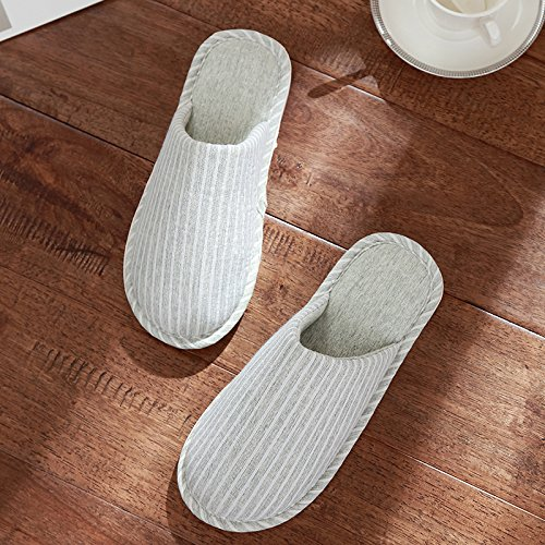 DogHaccd Slippers,Japanese couples home slippers indoor winter spring and fall on the floor of the home cotton slippers, anti-slip the shoes male,The green38-39
