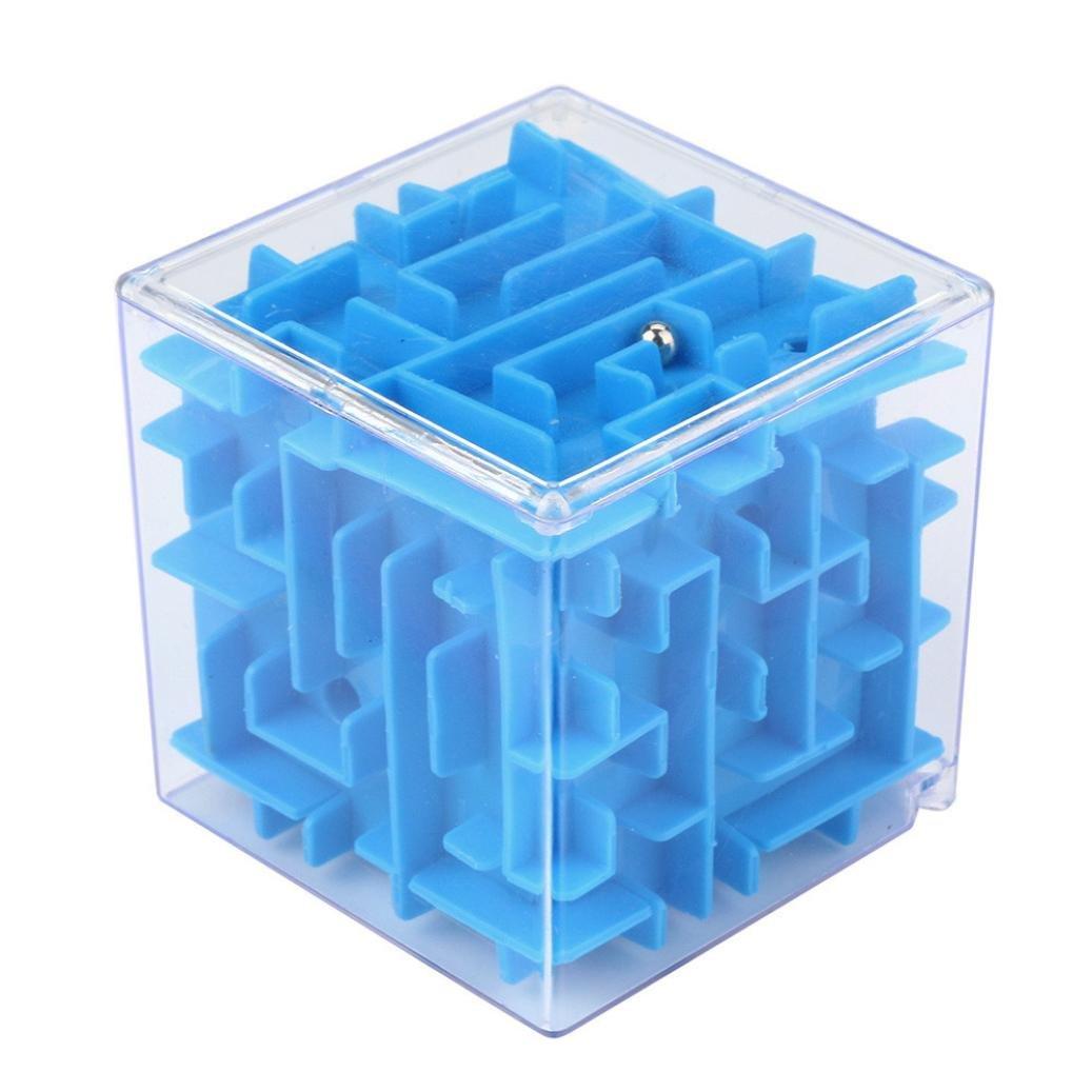 3D Maze Ball,Mamum 3D Cube Puzzle Maze Toy Hand Game Case Box Fun Brain Game Challenge Fidget Toys (Green)