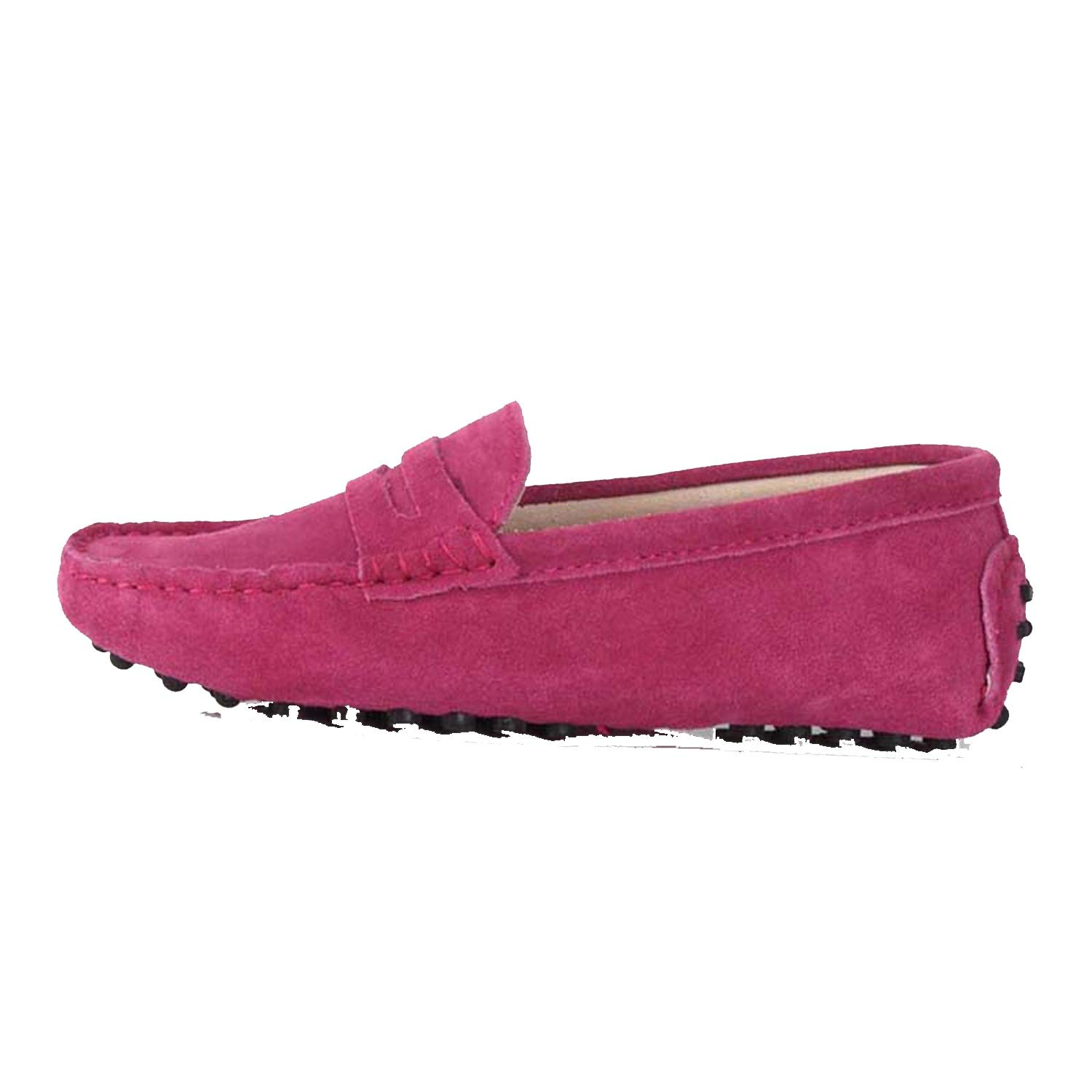 Hot Pink Women's Woman shoes Flats Casual Loafers Soft Slip On Moccasins Lady Driving shoes