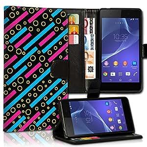 Wallet Wicostar-Funda Case Funda Carcasa diseño Funda para Samsung Galaxy S4VE i9515-Diseño Flip mvd126