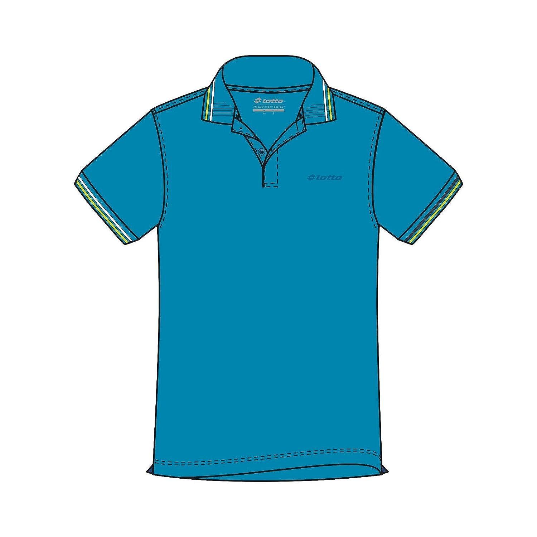 Lotto L73 Polo PQ - Polo, Hombre, Azul(BLU Ego/GRN LTN): Amazon.es ...