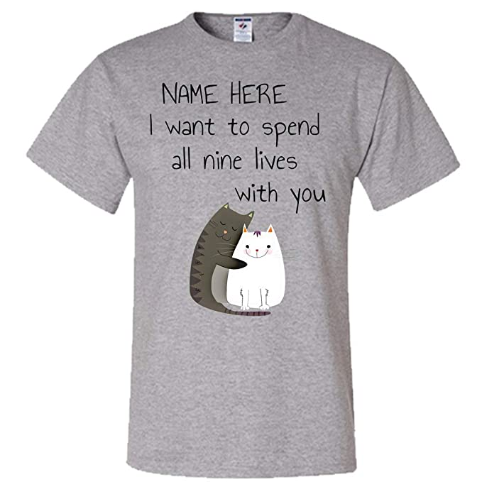 24205ea0 Image Unavailable. Image not available for. Color: Personalized Shirt Create  a Custom Cat ...
