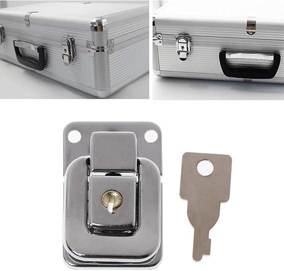 Lamdoo Metall Schmuck Box Lock Koffer Schnallen Toggle Haspe Latch Catch Verschluss mit Schl/üssel