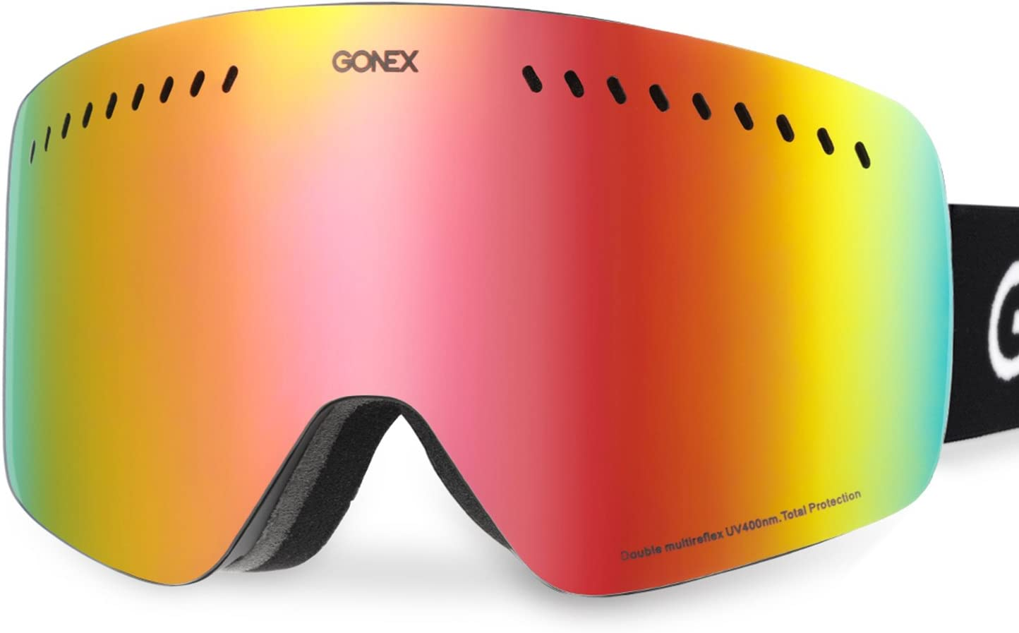 Gonex Cylindrical Lens Ski Goggles, Anti-Fog UV400 Protection Snow Snowboard Goggles-More Suitable for Double-Board Skiing