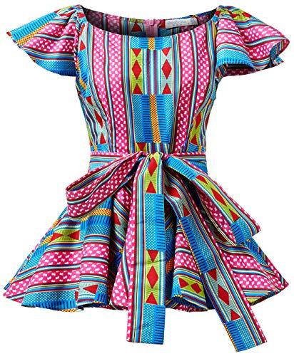 Shenbolen Womens Dashiki Tops Sleeveless Summer African Printed Slim Fit Shirts Blouse (Small,C)