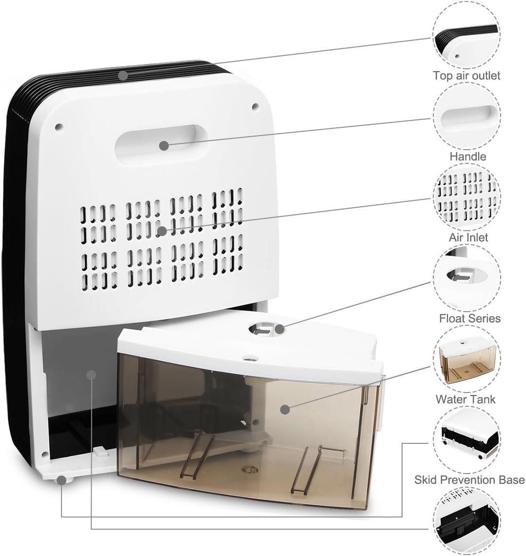 Finether- Mini Deshumidificador Digital ,2.5L de Tanque de Agua ...