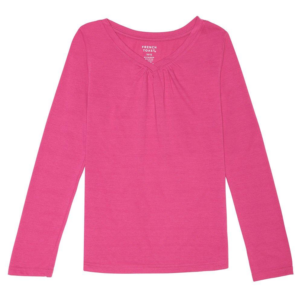 French Toast Girls Long Sleeve V-Neck T-Shirt Long Sleeve V-Neck Tee