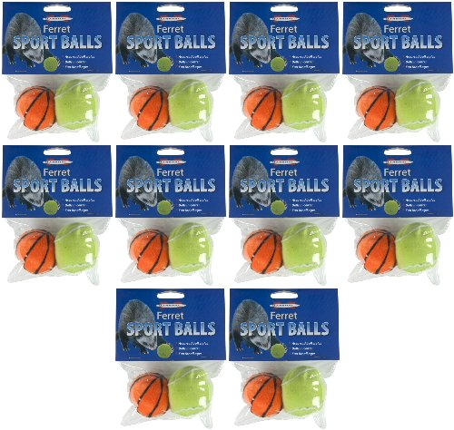 (Marshall Ferret Sport Balls Assorted, 20ct (10 x 2ct))