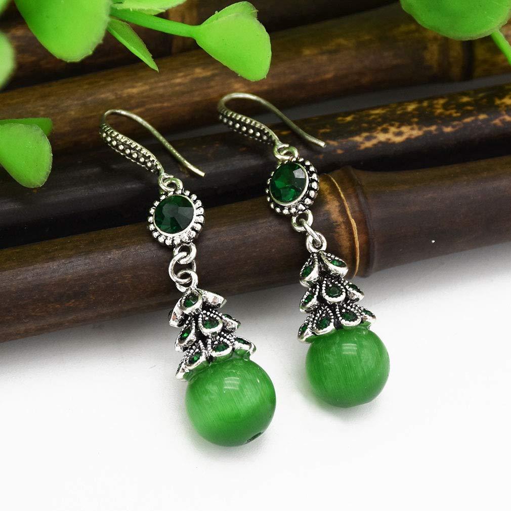 Jinxian Big Rhinestone Drop Earrings Fashion Elegant Graceful Platinum Plated Studs Hook