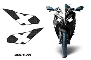 AMR Racing Sport Bike Headlight Eye Graphic Decal Cover for Kawasaki Ninja 300 12-14 - Lights Out