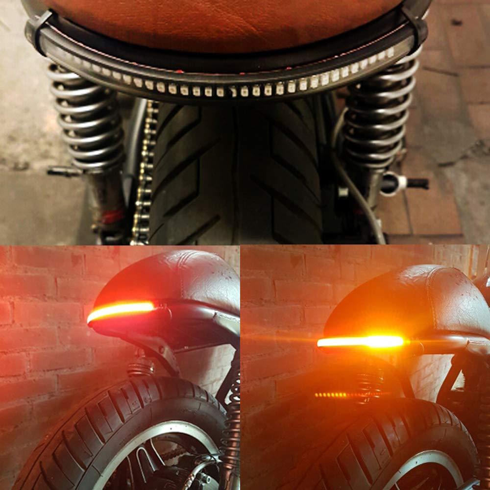 Tira de luces para motocicleta, freno trasero, luz de señal de ...