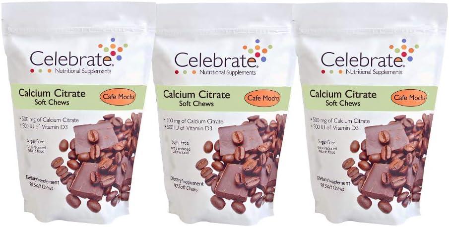 Celebrate Vitamins Calcium Citrate Soft Chews - 500 mg Cafe Mocha - 270 Count