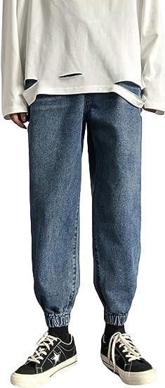Alppvデニムパンツ メンズ 春 ロング ストレート メンズ ジーンズ デニム ウォッシュ加工 9分丈 ゆったり 美脚 通勤 通学 パンツ ボトムス カジュアル ファッション ズボン ジーパン