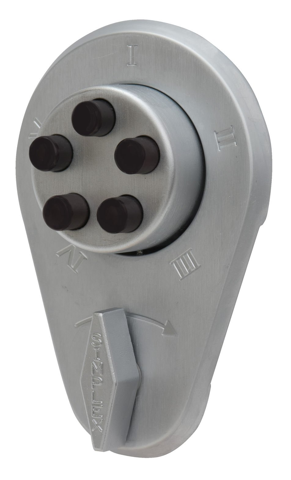 Simplex 919-26D-41 Auxiliary Lock with Thumbturn With Deadlocking Spring Latch Satin Chrome Finish