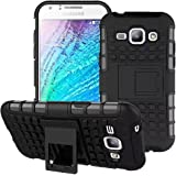 Accessories Collection Stylish Heavy Duty Hard Back Armor Shock Proof Case Cover with Back Stand Feature & Free Screen Protector For Samsung Galaxy J5