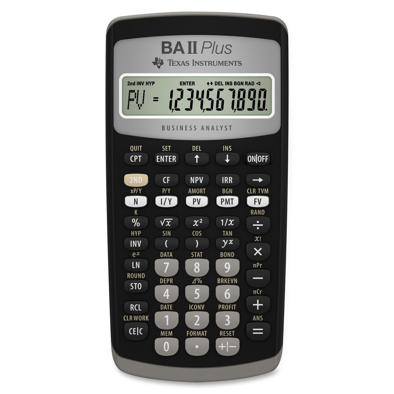 Texas Instruments BA II Plus Financial Calculator (3, Black)