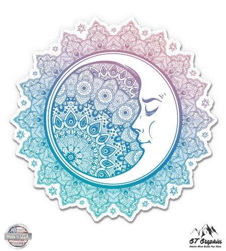 Astronomy Sticker - GT Graphics Moon Celestial Pretty Mandala Style - 3