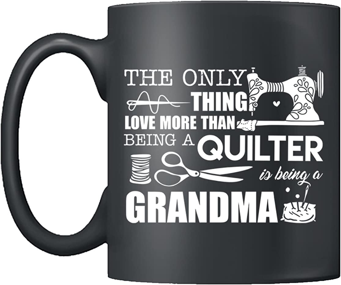 Printed Ceramic Coffee Tea Cup Gift 11 ounce Mug Quilters