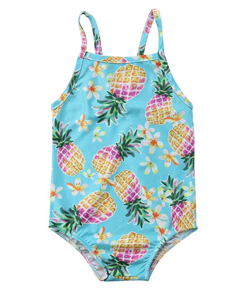 Specialcal Toddler Little Kid Girls Swimsuit Pineapple Print Bathing Suits Swimwear Beachwear Bikini Sets