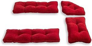 South Pine Porch Hampton 4-Piece Kitchen Nook Cushion Set, Scarlet