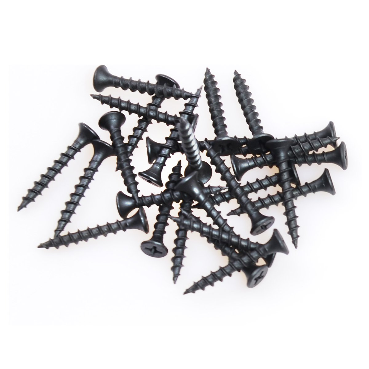 South Main Hardware 330105 Bugle Head 1-1/4 Inch #8 Coarse Thread Drywall Screw with Phillips Drive Bugle Head, 9 lbs, Black