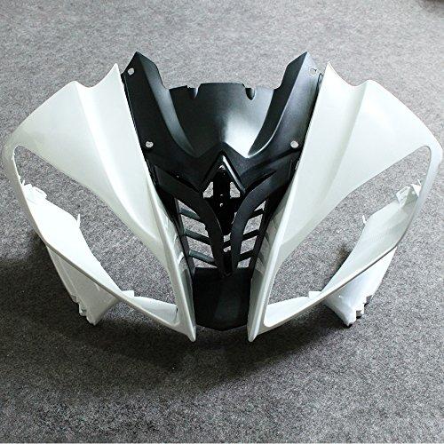 ZXMOTO Unpainted Front Upper Nose Fairing for Yamaha YZF R6 2008-2016 2009 2010 2011 2012 2013 2014 2015 Individual Motorcycle Fairing 03 Yamaha R6 Bike Motorcycle