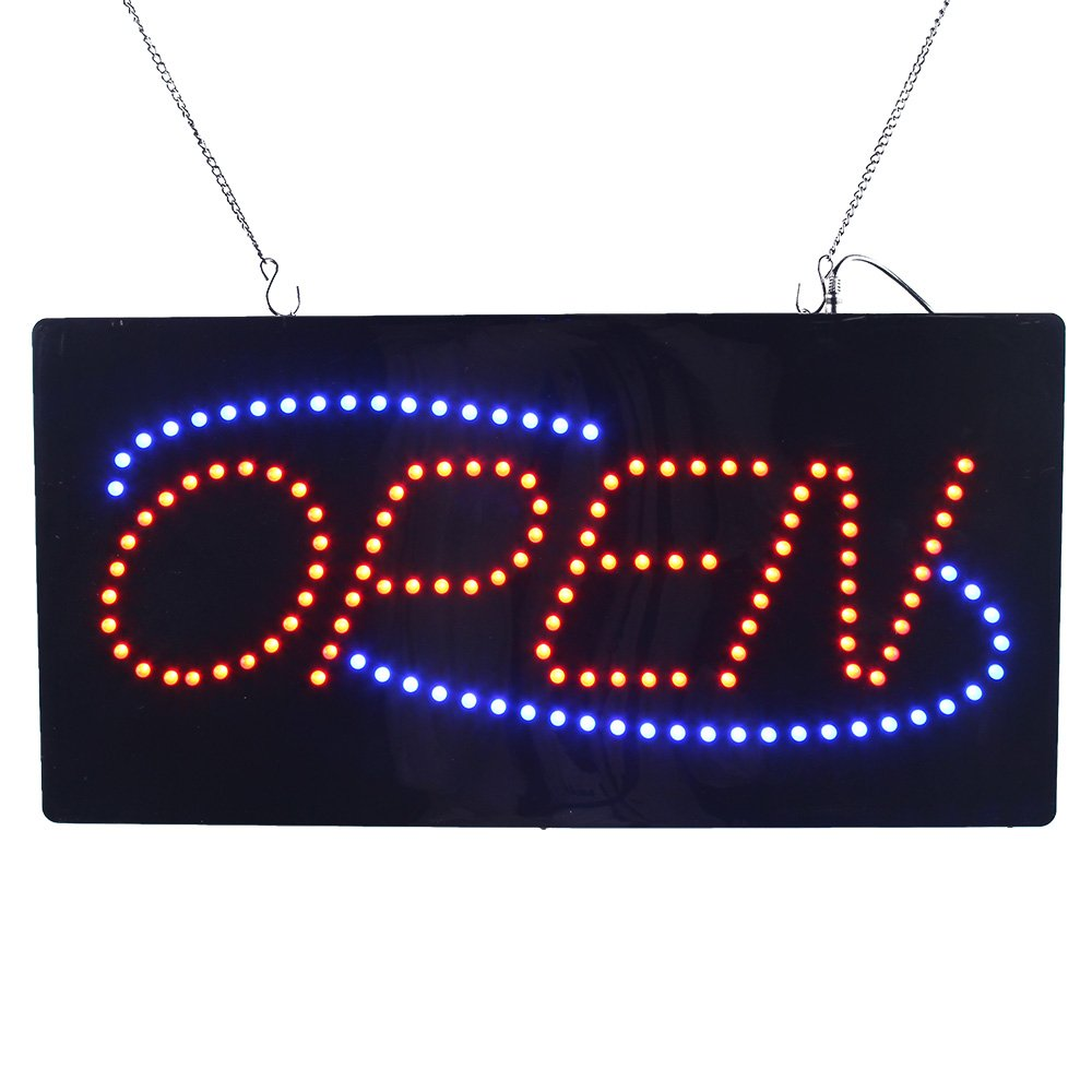 LED Neon Light Animated Motion Open Sign for Beauty Salon Hair Nails Spa Massage Barber Shop Store Super Bright and 24 x 12 inches by Hidly (Image #1)