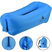 Hikenture 3.0 Inflatable Lounger Hangout Air Sofa - Lightweight 2.2lb Outdoor Portable Blow Up Lounge Beach Chair - Waterproof Wind Inflated Hammock Pouch Couch - Camping, Hiking, Festival, Indoor Use