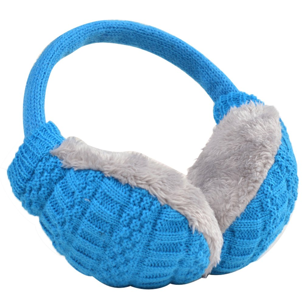 Unisex Women Men Plush Woven Winter Warm Earmuff Earlap Winter Ear Muffs Warmer Muff Coffee Gosear