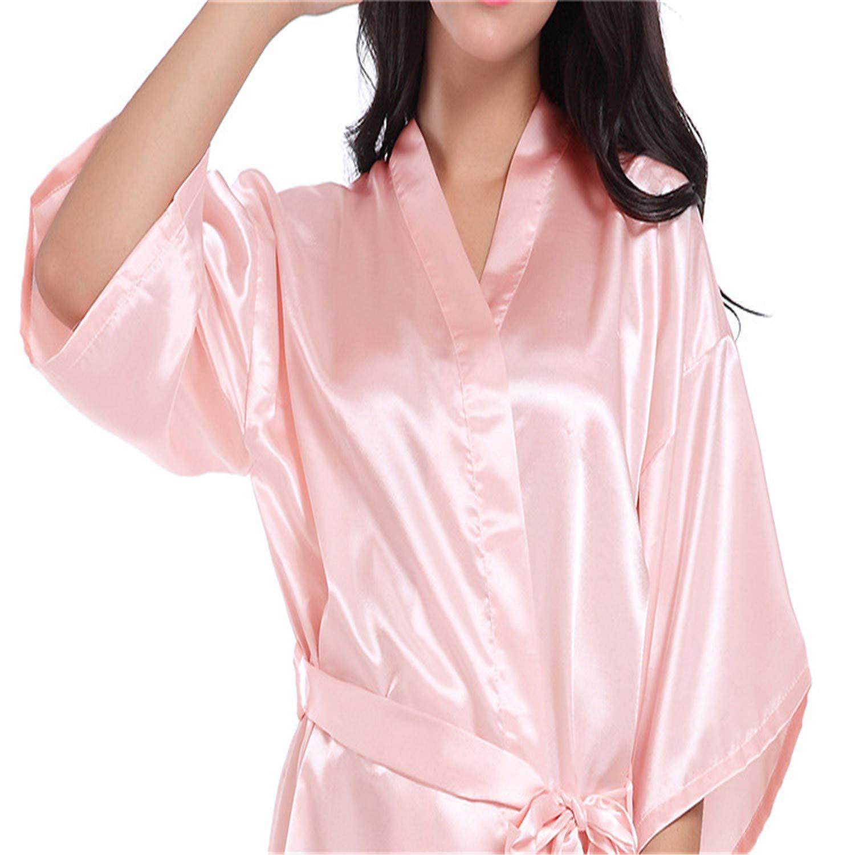 BABIFIS Robes de Demoiselle dhonneur Demoiselle dhonneur Coeur Paillettes dor Imprimer Faux Soie Kimono Robes Cadeau de Mariage mari/ée /équipe E M