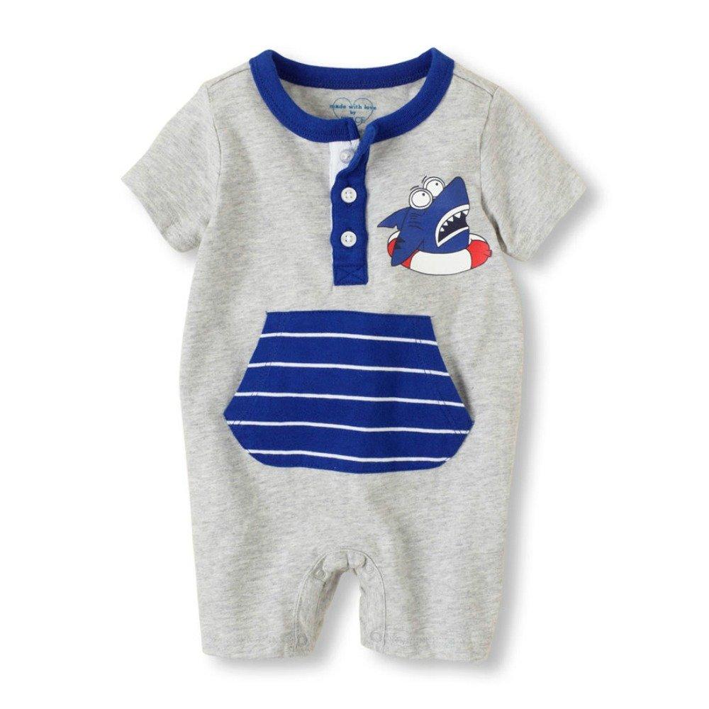6-9 Months Evacindy Baby Boy Shark Romper