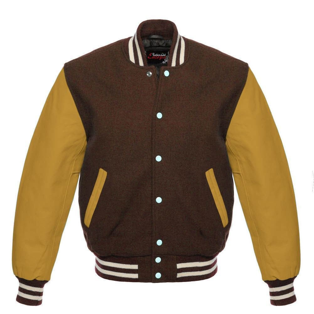 Los hombres de Varsity - Real Leather/WOOL Letterman ...