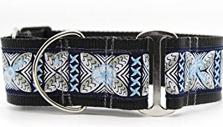 "product image for Diva-Dog 'Aloha' 2"" Extra Wide Martingale Dog Collar"