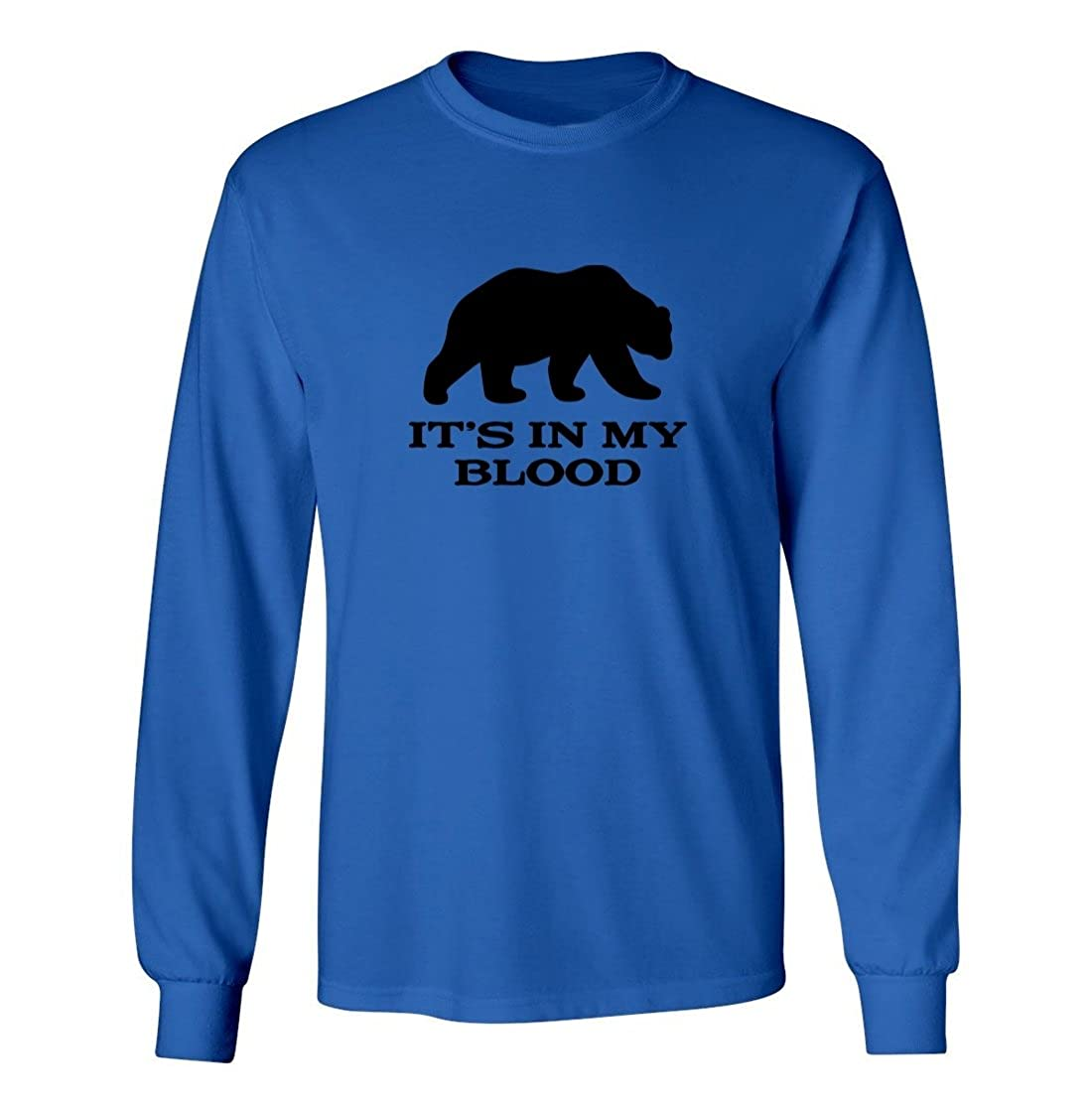 Kids Long Sleeve T-Shirt Mashed Clothing Big Boys Its in My Blood Bear