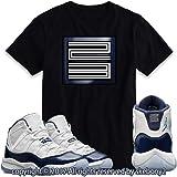 58ff5cb45dbece Custom T Shirt Matching Style of Air Jordan 11 Platinum Tint JD 11-4 ...