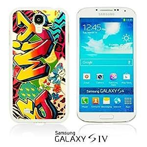 OnlineBestDigitalTM - Funny Pattern Hardback Case for Samsung Galaxy S4 IV I9500 / I9505 - Mix Graffiti