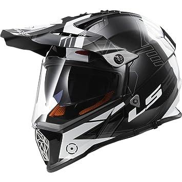 LS2 Casco, Casco De Motocicleta 103239902, Negro (Black Titanium), XXS