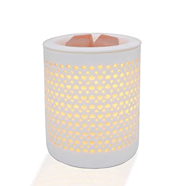 COKI Night Light with Dimmer Switch, Hollowed-Out Ceramic Nightstand Lamp, Desk Lamp for Gifts & Décor (All My Heart)