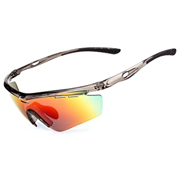 MEETLOCKS Polarized Cycling Glasses for Men Women, TR90 Unbreakable ...