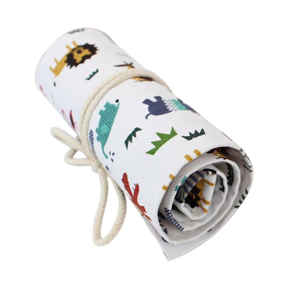 Wdoit 1PCS cancelleria borsa portaoggetti in tela, matite colorate, borsa da viaggio matite sacchetto di tenuta per studenti Artist Supplies (48fori) 45x21cm 36 Slot